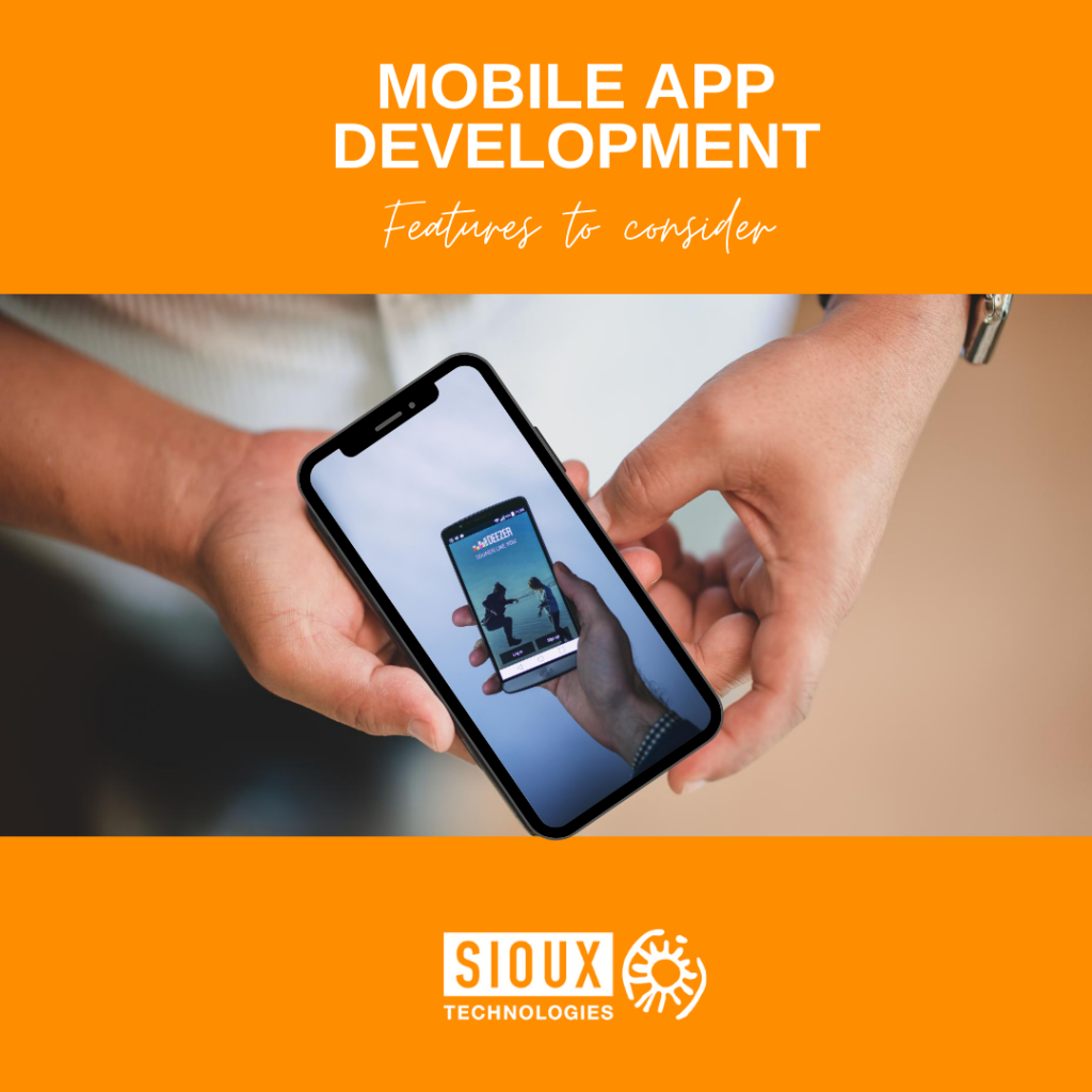Mobile app development features